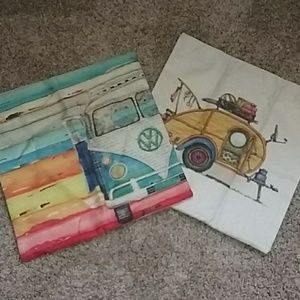 Other - Brand New Burlap Pillow Cases